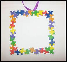 puzzle photo frame craft kit for 32 sturdy
