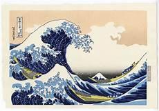 Japanisches Bild Welle - farbholzschnitt katsushika hokusai 1760 1849 unsodo