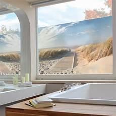 Sichtschutzfolie Fenster Innen - fenster folie sichtschutz fenster wand deko ostsee strand