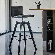 chaise de bar pivotante en simili noir h66cm agathe
