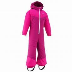 wed ze ski p suit 100 children s ski suit pink decathlon