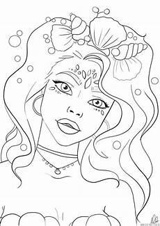 Malvorlagen Meerjungfrau Romantik Meerjungfrau Ausmalbild Mermaid Coloring Page In 2020