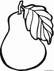printable pear fruit sb57b coloring pages printable