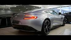 aston martin vanquish v12 cold start loud revs full