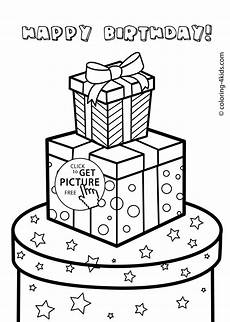 gift boxes for birthday happy birthday coloring pages