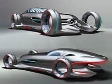 Silver Arrow Mercedes Benz Concept Car In