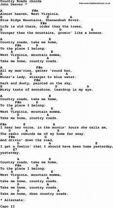 easy country guitar songs song lyrics with guitar chords for country roads easy guitar songs guitar chords for songs