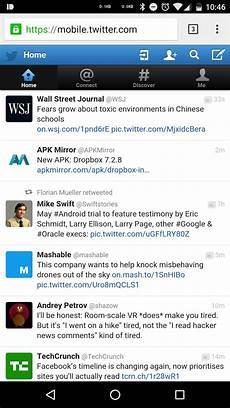 twiter mobile is also testing a more material design for its