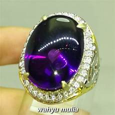 Batu Akik Kecubung Ungu Amethys cincin batu akik kecubung ungu kalimantan bagus