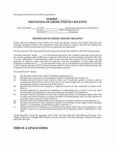 definition of gross and net receipts distribution legal forms and business templates