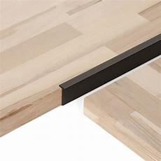 profil de jonction plan de travail profil de jonction d angle noir l 66 x l 4 cm leroy merlin
