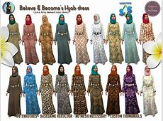 My Sims 4 Blog: Hijab Long Sleeve Maxi Dress by TheAfricanSim