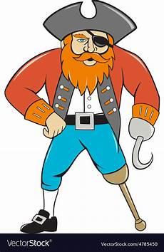 Captain Hook Malvorlagen Gratis Captain Hook Pirate Wooden Leg Royalty Free Vector