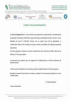 lettere di autocandidatura lettera di presentazione tecnoipianti by informratica team