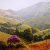 Peak Of Fall Landscape Art Giclee Print Reproduction On