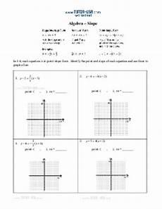 worksheet slope slope intercept standard form point