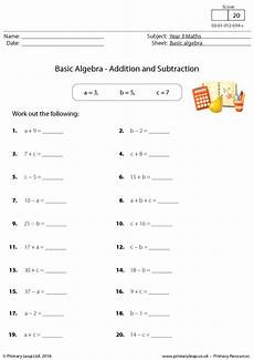 basic algebra addition and subtraction