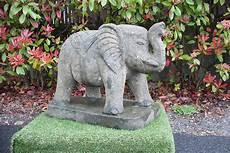 Statue Jardin 233 L 233 Phant En Roche Volcanique 60 Cm