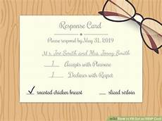 How To Fill Out Response Card For Wedding Invitation