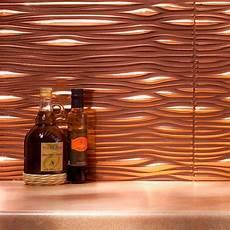 Copper Tiles For Kitchen Backsplash Fasade 24 In X 18 In Waves Pvc Decorative Tile