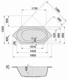 Sechseck Badewanne 180x80 - hoesch armada sechseck badewanne 180 x 80 cm 6175 010