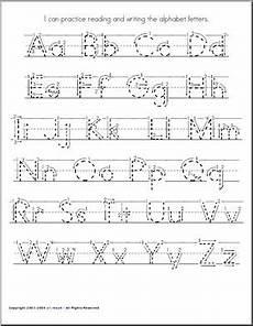 handwriting practice a z manuscript zb style font abcteach