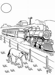 a beside railroad coloring page color