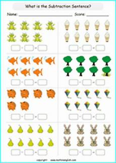 subtraction within 10 printable grade 1 math worksheet