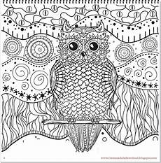 Eulen Ausmalbilder Mandala Eulen Mandala Owls Mandala Hochwertige Mandala Bilder