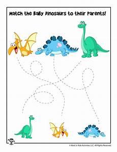 dinosaur matching worksheets 15344 easy dinosaur tracing matching worksheet woo jr activities