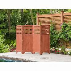 terrasse sichtschutz holz leisure season folding patio and garden privacy screen