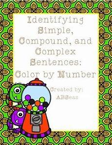 complex color by number worksheets 16108 simple compound and complex sentences color by number freebie by abseas
