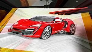 Sketch Of Lykan Hypersport Car In Fast N Furious 7 By