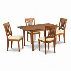 shop picasso 5 pc kitchen table table with leaf and 4 plainville dining table chairs free