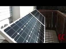 200 Watt Solaranlage Selber Bauen Inselanlage Auf Balkon