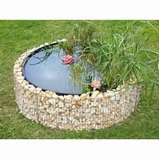 bassin de jardin rond bassin de jardin en acier rond gabion 146 x 146 x 40 cm