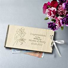 Wedding Gift Money personalised wooden money wedding gift envelopes by