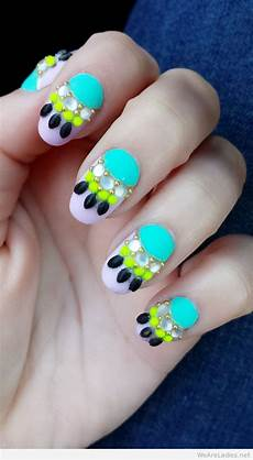 wonderful nail art bright colors