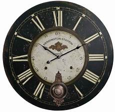 station wall clock 23 quot vintage wall clocks