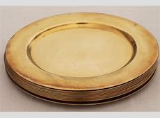 12 solid brass charger plates, vintage dinner plates for a