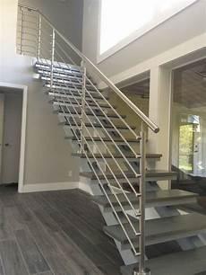 20 modern stainless steel stair railing design ideas