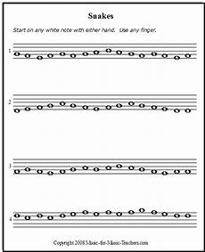 piano sheet music for beginners quot snakes quot free