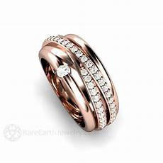 multi band all in one wedding ring or anniversary band rare earth jewelry