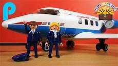 riesiges flugzeug privatjet f 252 r playmobil flughafen 5395