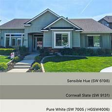sherwin williams paint colors sensible hue 6198 cornwall slate 9131 pure white 7055 in 2019
