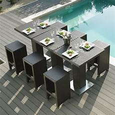 table de jardin moderne table haute jardin dolce vita la boutique desjoyaux