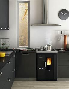 cucine da incasso cucina pellet cal 242 r 7kw ventilata da incasso
