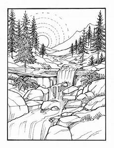 Ausmalbilder Erwachsene Landschaft Inkspirations For A Happy Coloring Book Pages