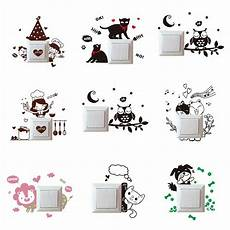 cute cartoon light switch socket wall stickers decor decals mural car room home ebay