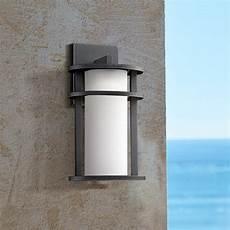 aline 13 quot high black led outdoor wall light 13t87 ls plus